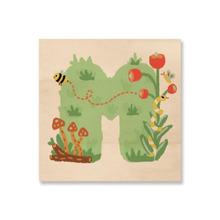 Print - Amor no Jardim - Letra M