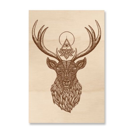 Print - Deer Mandala Brown