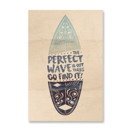 Print - The perfect wave is out there - Azul