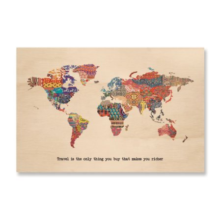 Print - Fabric World Map