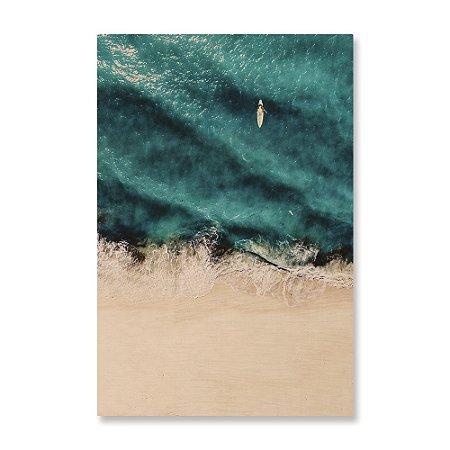 Quadro de Madeira - Areia da Praia