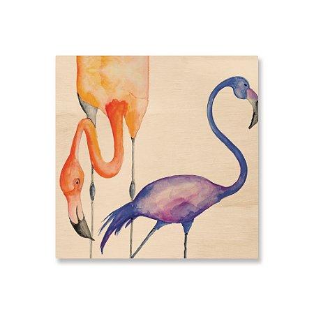 Print - Flamingos Aquarela