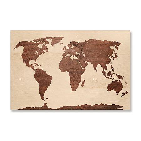 Print - Mapa Wood
