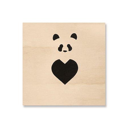 Print - Panda Coração