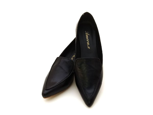 452eb0ebab Sapato Salto Couro Veneza Preto - Amora Calçados