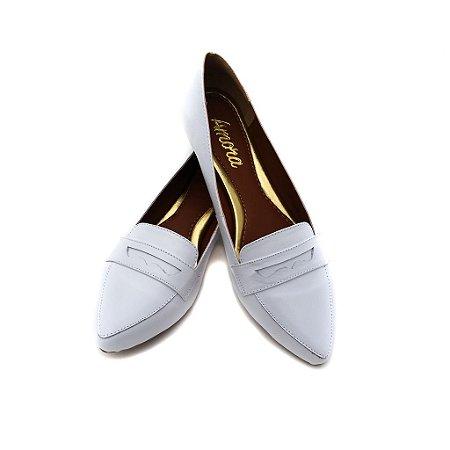 Sapato em Couro Mocassim Clássico Branco