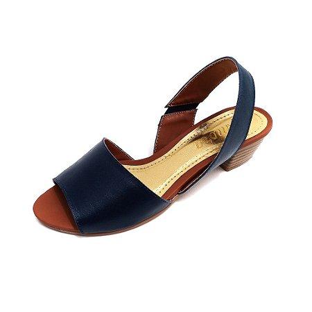 Sandália de Salto em Couro Sophie Azul