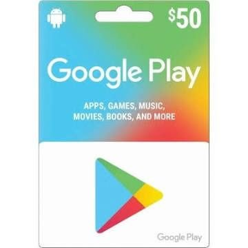 Cartão Google Play Gift Card 50 Reais Android Playstore