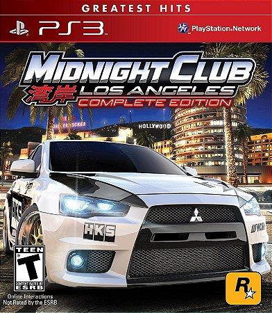 Midnight Club Los Angeles PS3 PSN Mídia Digital