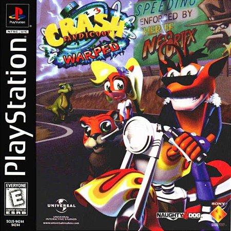 Crash Bandicoot Warped 3 PS3 PSN Mídia Digital Promoção