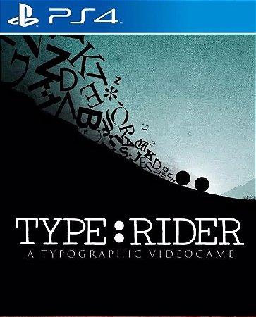 Typerider PS4  PSN Mídia Digital