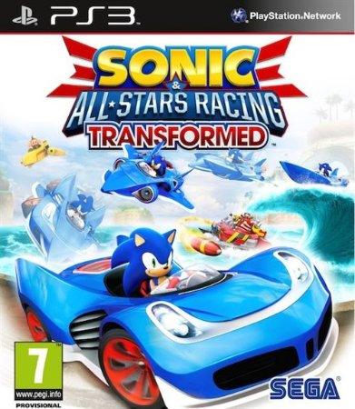 Sonic & All-Stars Racing Transformed PS3  PSN Mídia Digital