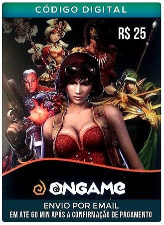 Cartão  ON GAME 25R$