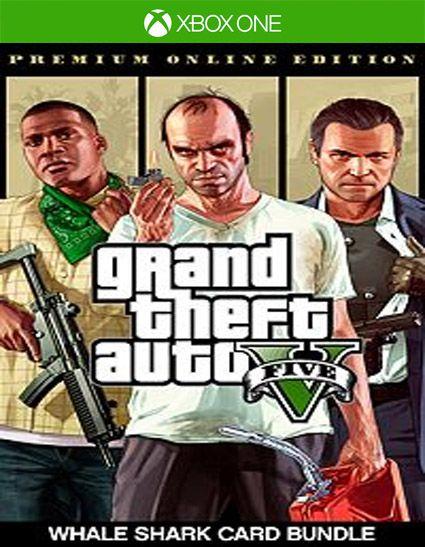 Grand Theft Auto V Edição Online Premium e Pacote de Dinheiro Tubarão-Baleia Xbox one Código 25 Dígitos