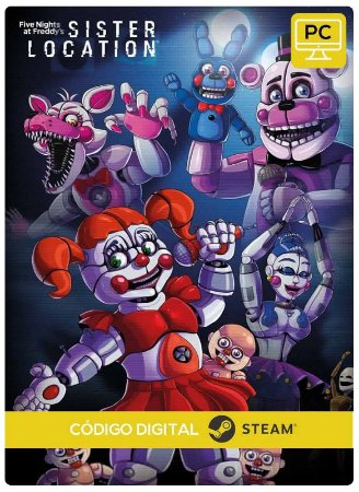 Five Nights at Freddy's: Sister Location Steam CD Key Pc Steam Código De Resgate Digital