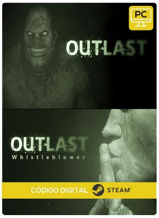 Outlast + Whistleblower DLC Steam Pc Código De Resgate Digital