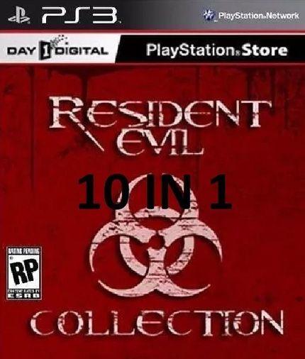 Resident Evil Combo Com 9 Jogos Para Ps3  PSN Mídia Digital