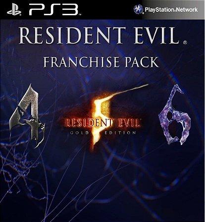 Resident Evil Franchise Pack 4 5 E 6 PS3 PSN mídia Digital