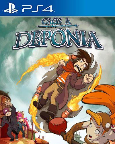 Chaos on Deponia  PS4 PSN Mídia Digital