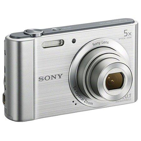 Câmera Digital Sony W800 20.1MP, 5x Zoom Óptico, Foto panorâmica, Vídeos HD, Prata