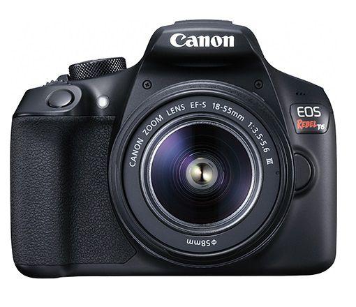 Câmera Digital Canon DSLR Eos Rebel T6 Com Lente 18-55mm