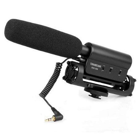 Microfone Condensador Stéreo Takstar SGC-598 Para Câmeras Canon/Nikon