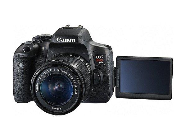 Câmera Fotografica Canon DSLR EOS Rebel T6i com Lente 18-55mm