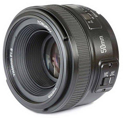 Lente para Câmeras Nikon Yongnuo YN50mm F1.8 de 50mm com Abertura de Diafragma F/1.8