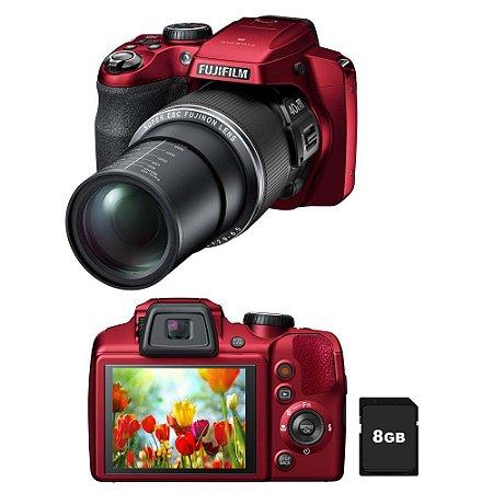 "Câmera Fotografica Digital Fujifilm  S8200 Vermelha com LCD 3.0"", 16.2MP, Zoom Óptico 40x, Vídeo Full HD, Foto 3D e Panorâmica"