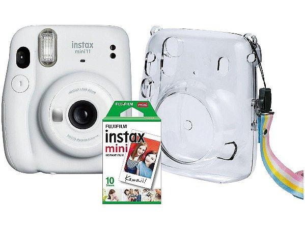 Câmera instantânea Instax mini11 Kit branca c/ bolsa Fuji Film CX 1 UN