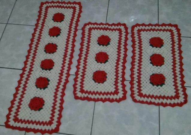 Kit Tapetes de Crochê Jogo Flores