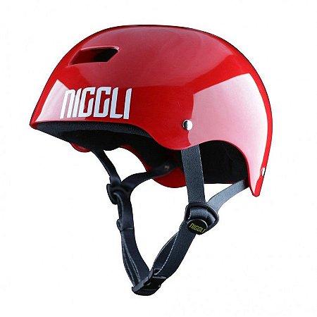 Capacete Profissional Niggli Pads Iron Light - Vermelho