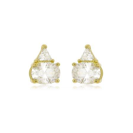 Brinco Tókio Cristal Di Capri Semi Jóias X Ouro