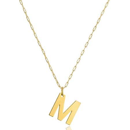 Colar Elos Cartier Letra M Di Capri Semi Jóias X Ouro