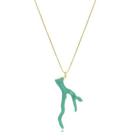 Colar Coral Verde Tiffany Di Capri Semi Jóias X Ouro