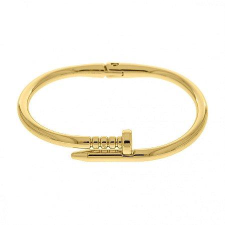 Pulseira Bracelete Prego Di Capri Semi Jóias X Ouro