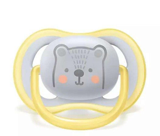 Chupeta Ultra Air Urso 6-18 Meses - Avent