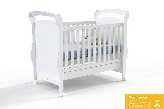 Berço Mini Cama Fratelli Branco Soft - Matic Móveis