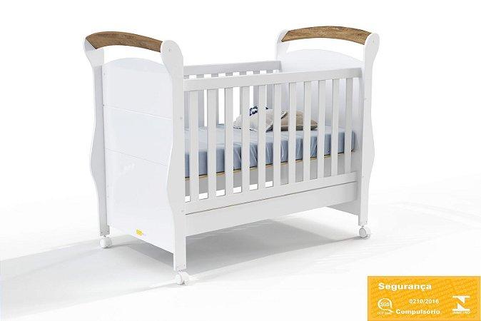 Berço Mini Cama Fratelli Branco com Teka - Matic Móveis