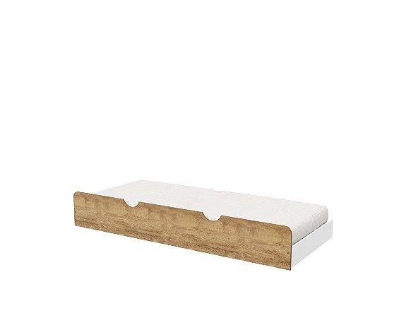 Cama Auxilar Branca com Teka - Matic Móveis