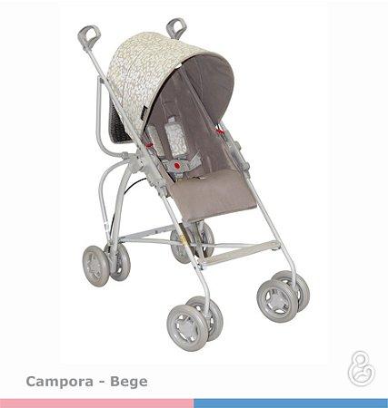 Carrinho de Bebê Campora Bege