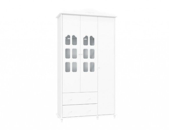 Guarda-Roupas Provence Branco 3 Portas - Matic Móveis