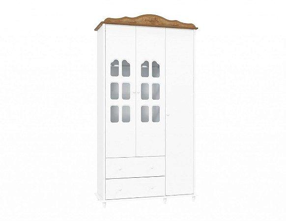 Guarda-Roupas Provence Branco com Teka 3 Portas - Matic Móveis