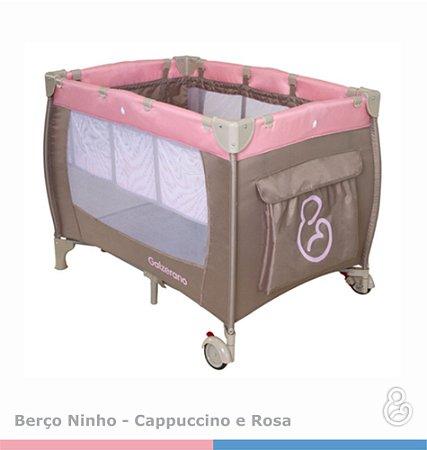 Berço Ninho ll Capuccino com Rosa - Galzerano