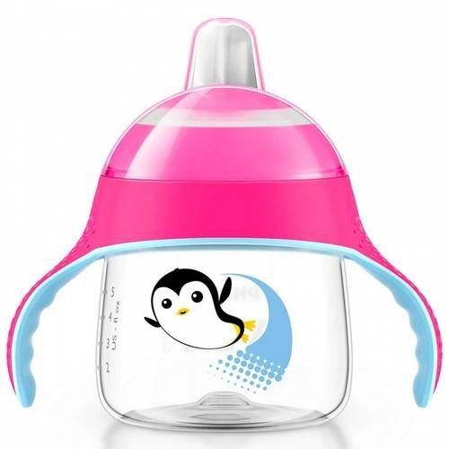 Copo pinguim 6+ rosa 200 ml - Philips Avent