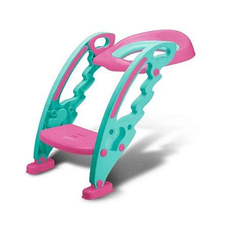 Assento redutor com escada rosa - Multikids