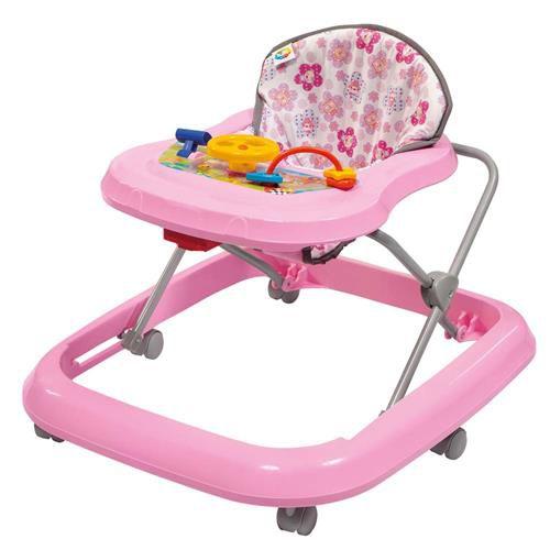 Andador Rosa com bandeja de atividades - Tutti Baby