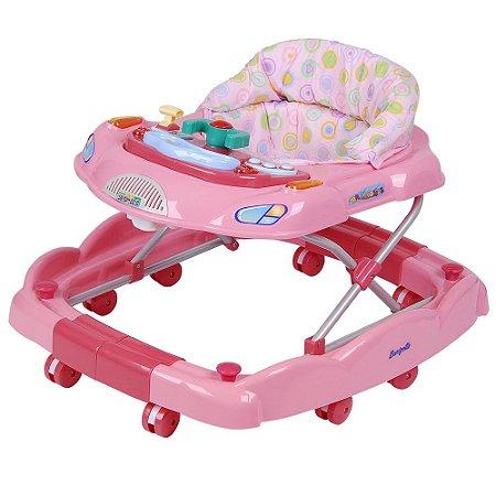 Andador Baby Coupé Rosa - Burigotto