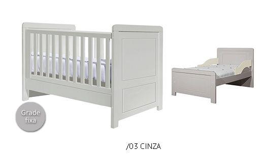 Berço Mini Cama Paola Cinza - Puppi Móbile
