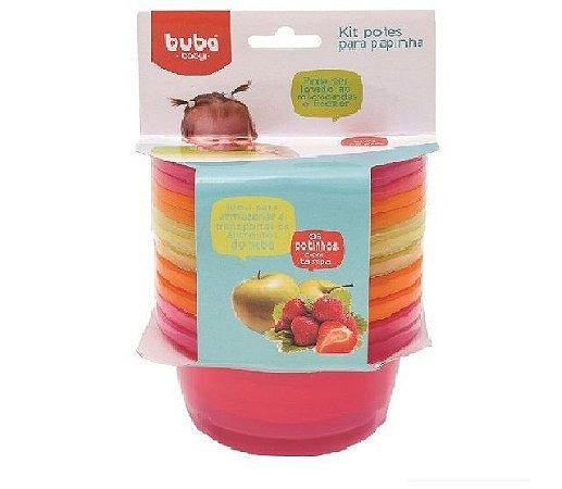 Kit 6 potes para papinha rosa - Buba